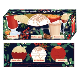Christmas Cocktail Bath Bombs Set of 3