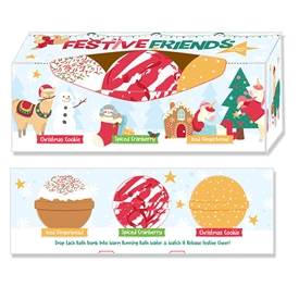 Pack Of 3 Festive Bath Bombs