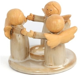FINAL REDUCTION Angel Ring Tealight Holder 12cm