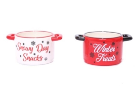 Christmas Snack Bowls 10cm 2 Assorted Designs