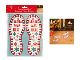 Santa Footprint Stickers
