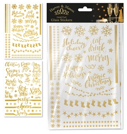 Pack of Gold Foil Window Stickers