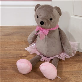 Plush Ballerina Teddy Doorstop