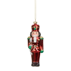 Colourful Electroplated Nutcracker Tree Decoration