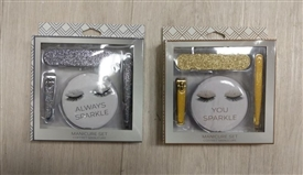Eyelash Sparkly 4 Piece Manicure Set 2 Assorted Colours