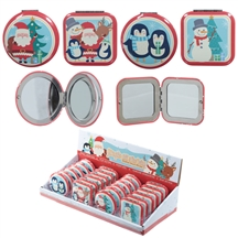Christmas Buddies Compact Mirror 4 Assorted