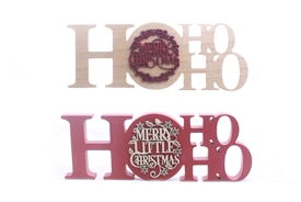 HoHoHo Plaque 2 Assorted 34cm