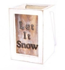 Let It Snow Lantern 15cm
