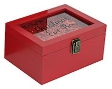 Red Confetti Christmas Eve Box 20cm