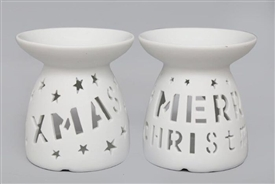 Ceramic Christmas Text Burner 2 Assorted 11cm