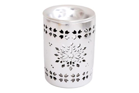 Snowflake Cut Out Silver Oil Burner 11cm