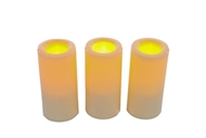 Set Of 3 Outdoor LED Candles