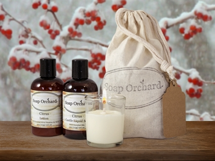 4oz Bottle and Votive Candle Gift Bag