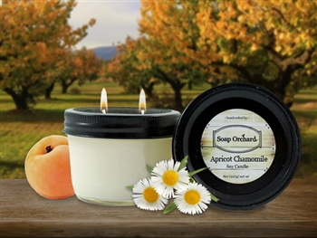 Apricot Chamomile Double Wick Soy Candle