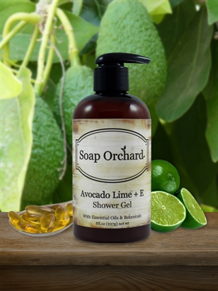 Avocado Lime + E Shower Gel