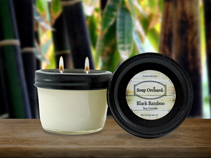 Black Bamboo Double Wick Soy Candle