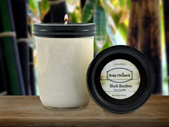 Black Bamboo 16oz Jar Soy Candle