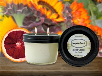 Blood Orange Double Wick Soy Candle