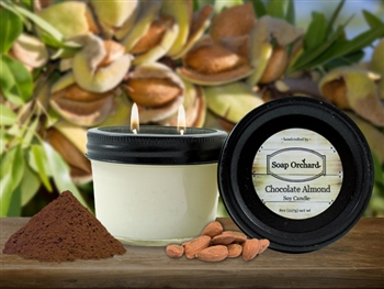 Chocolate Almond Double Wick Soy Candle - Retiring