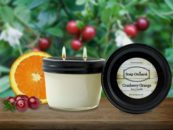 Cranberry Orange Double Wick Soy Candle