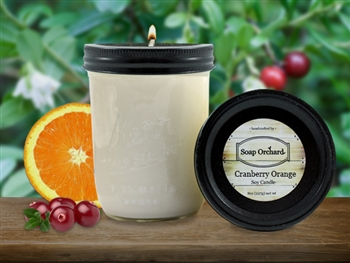 Cranberry Orange 16oz Jar Soy Candle