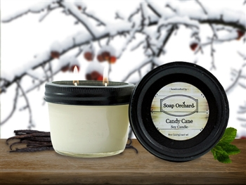 Candy Cane Double Wick Soy Candle - Retiring