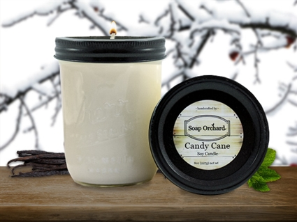 Candy Cane 16oz Jar Soy Candle