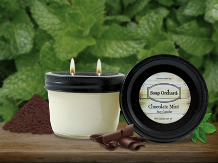 Chocolate Mint Double Wick Soy Candle