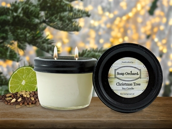 Christmas Tree Double Wick Soy Candle - Retiring