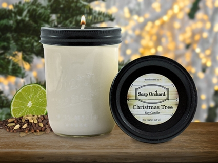 Christmas Tree 16oz Jar Soy Candle