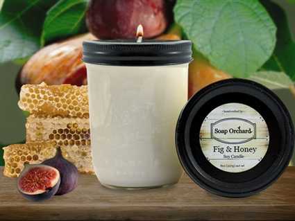 Fig & Honey 16oz Jar Soy Candle