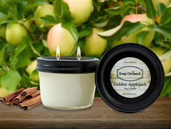Golden Applejack Double Wick Soy Candle