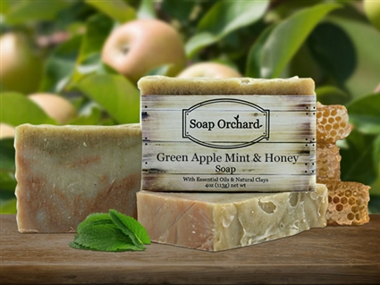 Green Apple Mint & Honey Soap - Retiring Soap