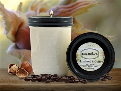 Hazelnut & Coffee 16oz Jar Soy Candle