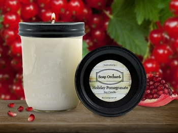Holiday Pomegranate 16oz Jar Soy Candle - Retiring