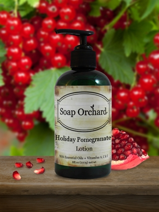 Holiday Pomegranate Lotion + Retiring