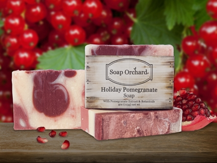Holiday Pomegranate Soap - Retiring