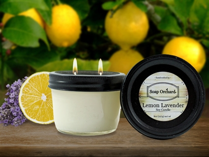 Lemon Lavender Double Wick Soy Candle