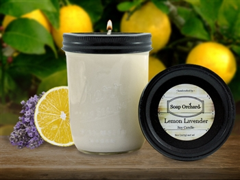 Lemon Lavender 16oz Jar Soy Candle