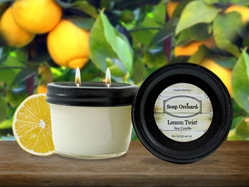 Lemon Twist Double Wick Soy Candle - Retiring
