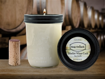 Merlot Wine Cask 16oz Jar Soy Candle