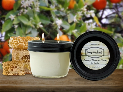 Orange Blossom Honey Double Wick Soy Candle