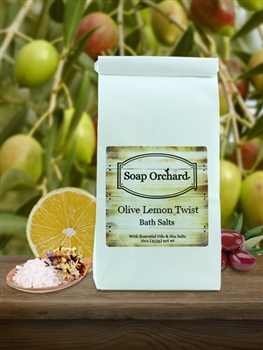 Olive Lemon Twist Bath Soak - Retiring