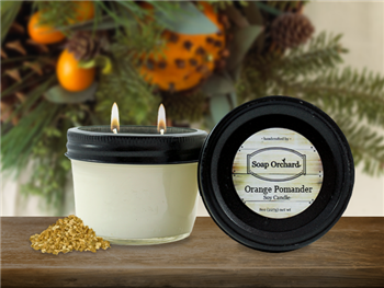 Orange Pomander Double Wick Soy Candle