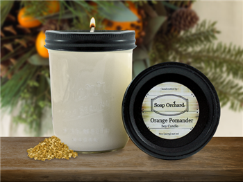 High-quality orange pomander scented large single-wick soy candle