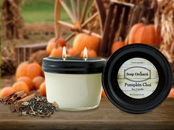 Pumpkin Chai Double Wick Soy Candle - Retiring