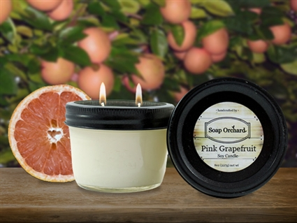 Pink Grapefruit Double Wick Soy Candle