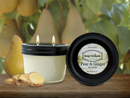 Pear & Ginger Double Wick Soy Candle