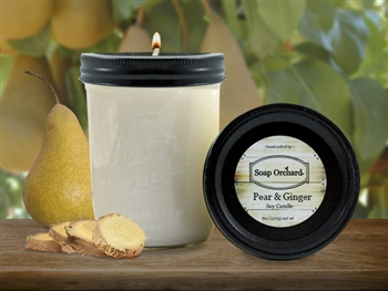 Pear & Ginger 16oz Jar Soy Candle