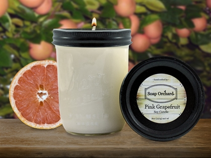 Pink Grapefruit 16oz Jar Soy Candle